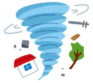 竜巻注意情報が出たら何をする?身を守る対処法とは?