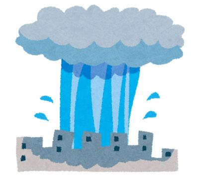 ゲリラ豪雨の対策は?どんな原因で発生するのか?