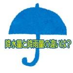 降水量と降雨量の違いとは?計測はどのように行なうの?